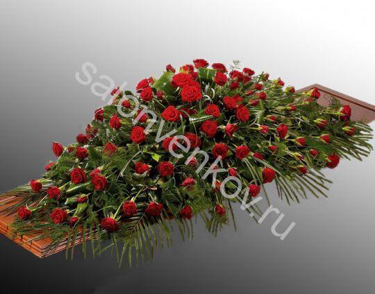 Траурная композиция из живых цветов N60