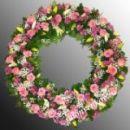Траурный венок из живых цветов N55 -  60см
