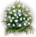 Траурная корзина из живых цветов N85 высота 80см